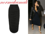 Kim Kardashian's Norma Kamali Ruched Jersey Skirt
