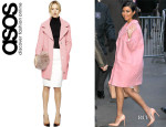 Kourtney Kardashian's ASOS Textured Coat