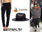 Kourtney Kardashian's Sam & Lavi 'Cash' Pants And Ecua-Andino Panama Hat