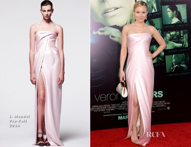Kristen Bell In J Mendel Pre-Fall 2014 - 'Veronica Mars' LA Premiere