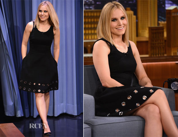 Kristen Bell In Michael Kors - The Tonight Show Starring Jimmy Fallon