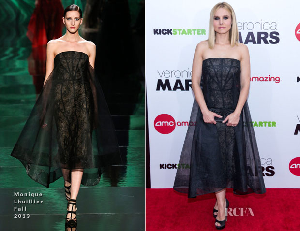 Kristen Bell In Monique Lhuillier - 'Veronica Mars' New York Screening