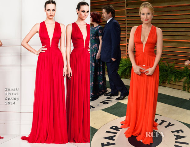 Kristen Bell In Zuhair Murad - Vanity Fair Oscar Party 2014