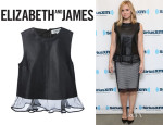 Kristen Bell's Elizabeth And James Sheer Trim Blouse