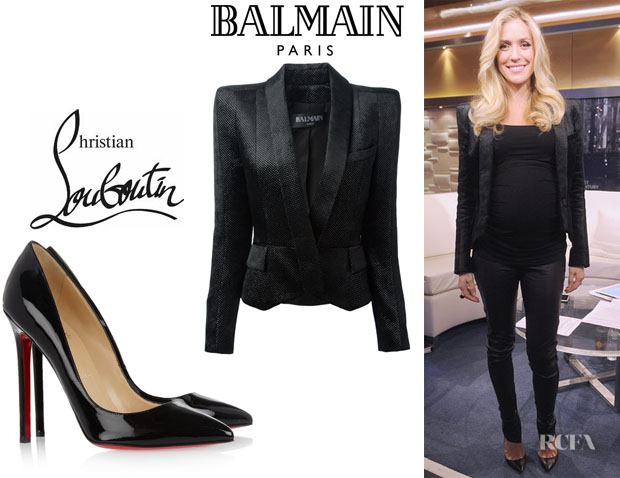 Kristin Cavallari's Balmain Structured Blazer And Christian Louboutin 'Pigalle' Patent Pumps