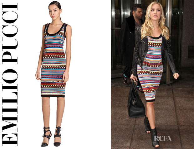 Kristin Cavallari's Emilio Pucci Stripe Knit Tank Dress