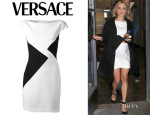 Kristin Cavallari's Versace Triangle Colourblock Minidress