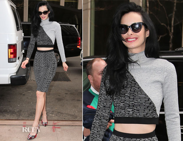 Krysten Ritter In Jonathan Simkhai - Sirius XM Radio & The Wendy Williams Show