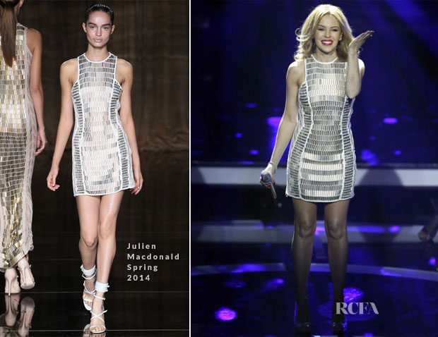 Kylie Minogue In Julien Macdonald - Echo Awards 2014 Performance