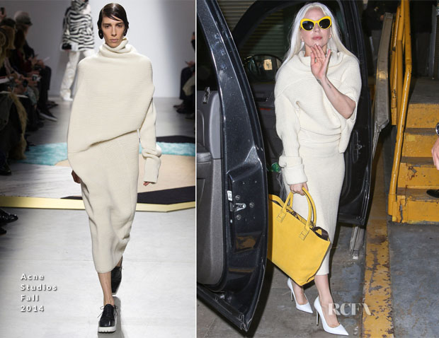 Lady Gaga In Acne Studios - Z100 Radio Station