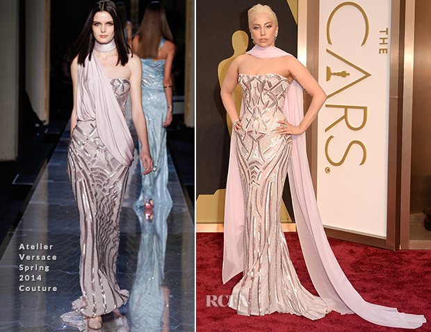 Lady Gaga In Atelier Versace Couture - Oscars 2014