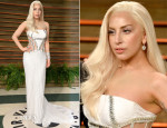 Lady Gaga In Atelier Versace - Vanity Fair Oscar Party 2014