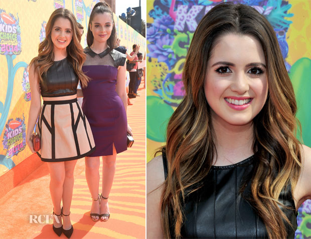 Laura Marano In Robert Rodriguez & Vanessa Marano In Black Halo - Nickelodeon Kids' Choice Awards 2014