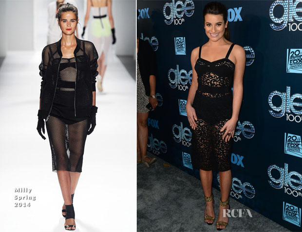 Lea Michele In Milly - 'Glee' 100th Episode Celebration