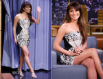 Lea Michele In Roberto Cavalli - The Tonight Show Starring Jimmy Fallon