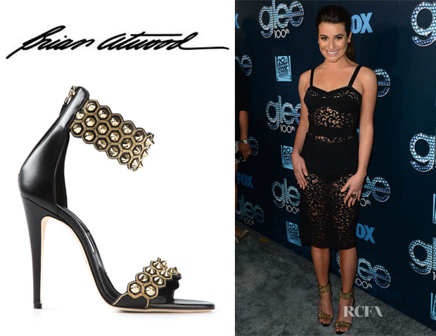 Lea Michele's Brian Atwood 'Abell' Shoes