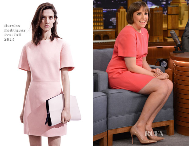 Lena Dunham In Narciso Rodriguez - 'The Tonight Show Starring Jimmy Fallon'