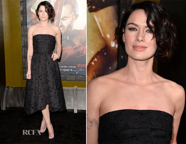 Lena Headey In Dolce & Gabbana - '300 Rise Of An Empire' LA Premiere