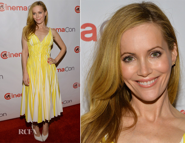 Leslie Mann In Oscar de la Renta - CinemaCon 2014 20th Century Fox Special