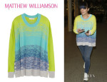 Lily Allen's Matthew Williamson Digital Haze Neon Cotton Sweater