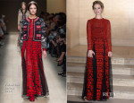 Lily James In Valentino - Changing Faces Gala Dinner