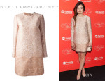 Lucy Hale's Stella McCartney Python Print Shift Dress