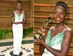 Lupita Nyong'o In Miu Miu - Vanity Fair Oscar Party 2014