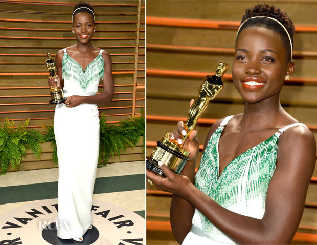 Lupita Nyong'o In Miu Miu - Vanity Fair Oscar Party 2014