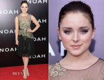 Madison Davenport In Marchesa Notte - 'Noah' New York Premiere
