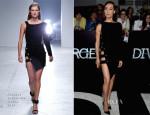 Maggie Q In Anthony Vaccarello - 'Divergent' LA Premiere
