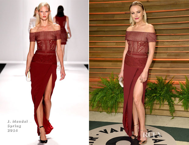 Malin Ackerman In J Mendel - Vanity Fair Oscar Party 2014