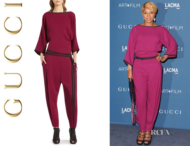Mary J Blige's Gucci Silk Cady Jumpsuit
