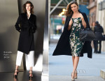 Miranda Kerr In Dolce & Gabbana and Escada - Out In New York City