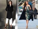 Miranda Kerr In Dolce & Gabbana and Escada - Out In New York City