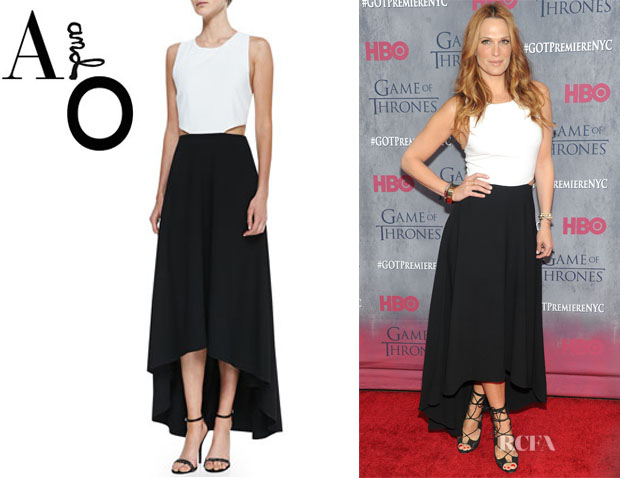 Molly Sims' Alice + Olivia Two-Tone Racerback Maxi Dress