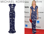 Naomi Watts' Michael Kors Cutout Printed Maxi Dress