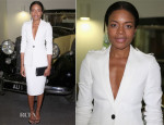 Naomie Harris In Burberry Tailoring - Bond In Motion Exhibition