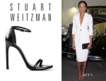 Naomie Harris' Stuart Weitzman 'Nudist' Sandals