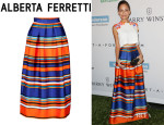 Nicole Richie's Alberta Ferretti Striped Skirt