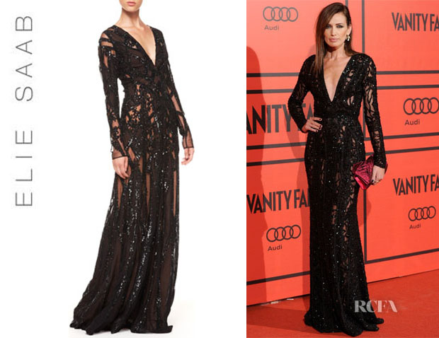 Nieves Alvarez' Elie Saab Sheer Sequin Gown