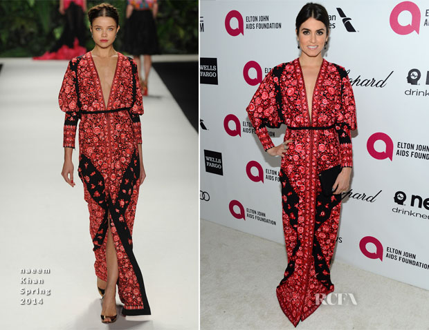 Nikki Reed In Naeem Khan - Elton John AIDS Foundation Oscar Party