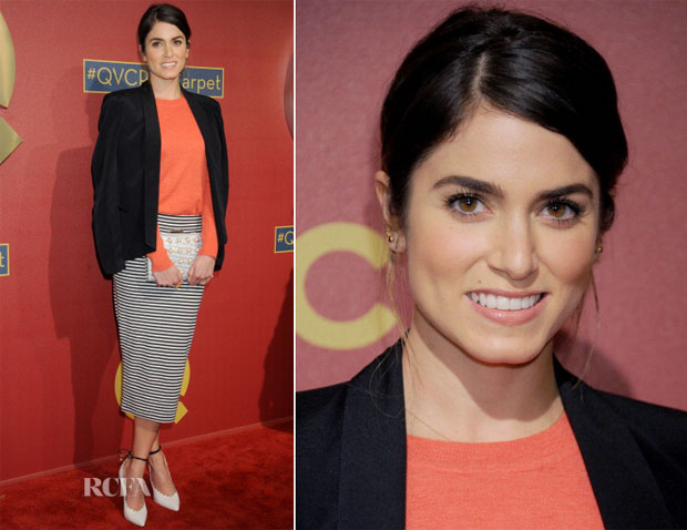 Nikki Reed In Rebecca Minkoff, Tory Burch & ASOS - QVC 5th Annual Red Carpet Style Event