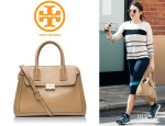 Nikki Reed's Tory Burch 'Elise' Dome Satchel