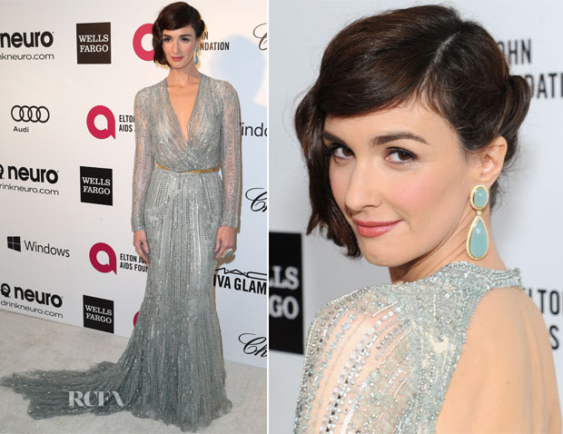 Paz Vega In Elie Saab Couture - Elton John AIDS Foundation Oscar Party