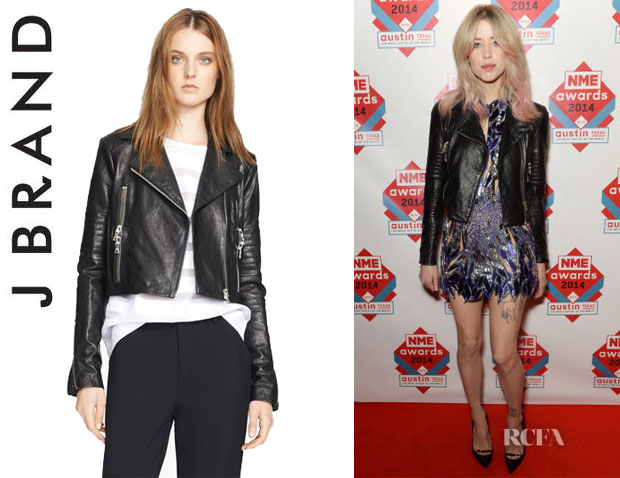 Peaches Geldof's J Brand 'Aiah' Leather Jacket