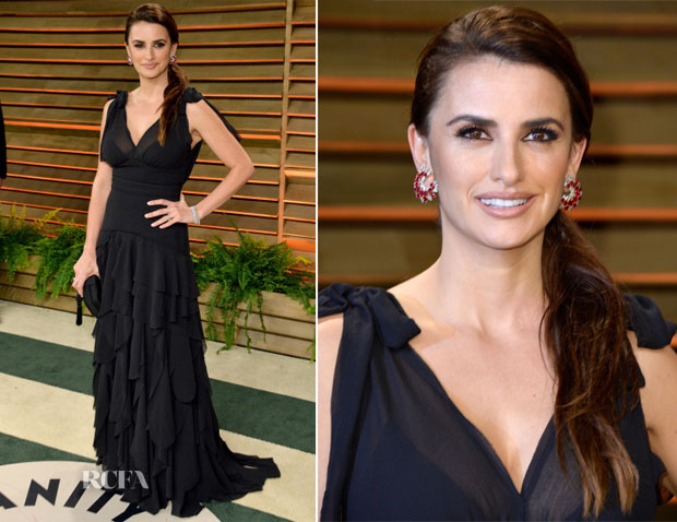 Penelope Cruz In H&M - Vanity Fair Oscar Party 2014
