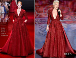 Pink In Elie Saab Couture - Oscars 2014 Performance