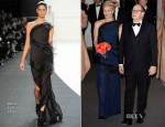 Princess Charlene of Monaco In Akris - Rose Ball 2014