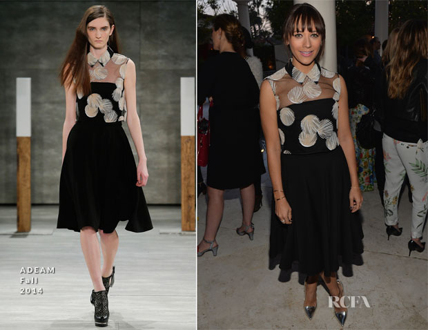 Rashida Jones In Adeam  -  Rashida Jones' New Glamour Column Party