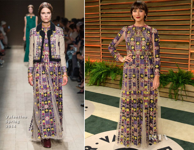 Rashida Jones In Valentino - Vanity Fair Oscar Party 2014